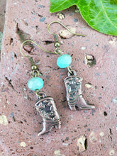 Copper boot earrings