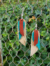 Stacked feather earrings
