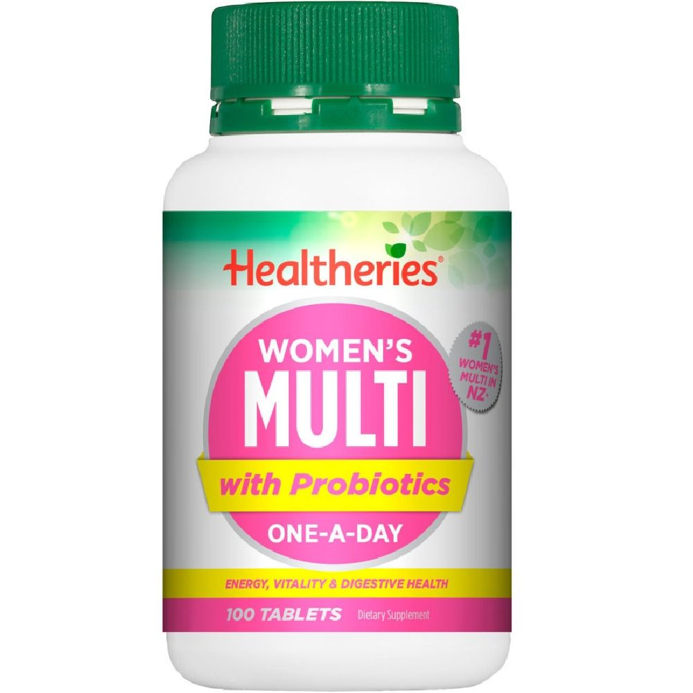 Healtheries Women's Multi with Probiotics One-A-Day - 100 Tablets
