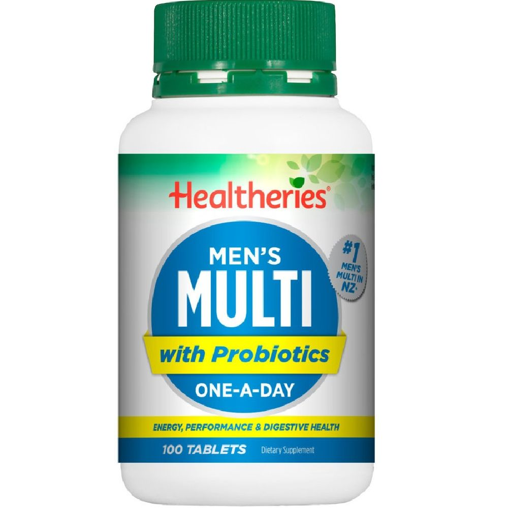 Healtheries Men's Multi with Probiotics One-A-Day -100 Tablets