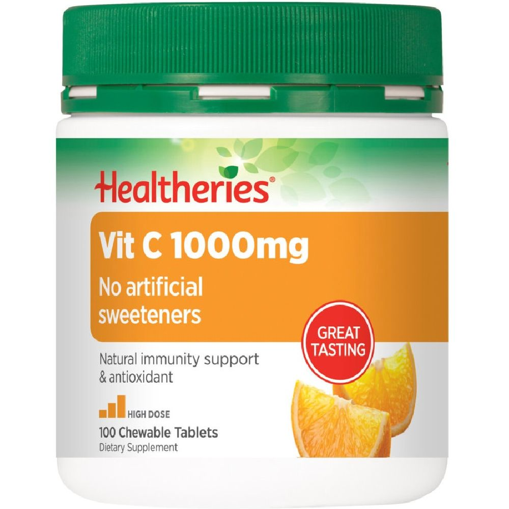 Healtheries Vit C 1000mg - 100 Chewable Tablets