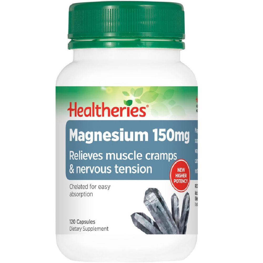 Healtheries Magnesium 150mg - 120 Capsules