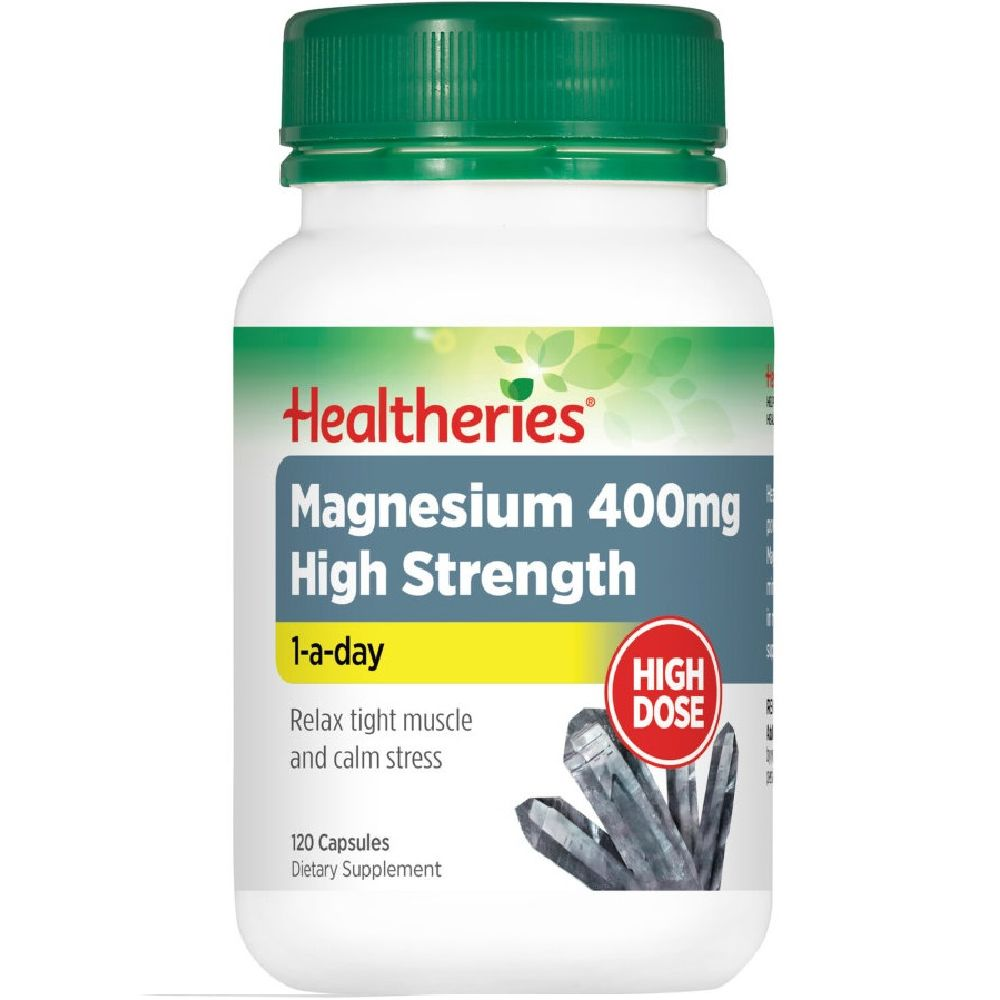Healtheries Magnesium 400mg High Strength 1-a-day - 60 Capsules