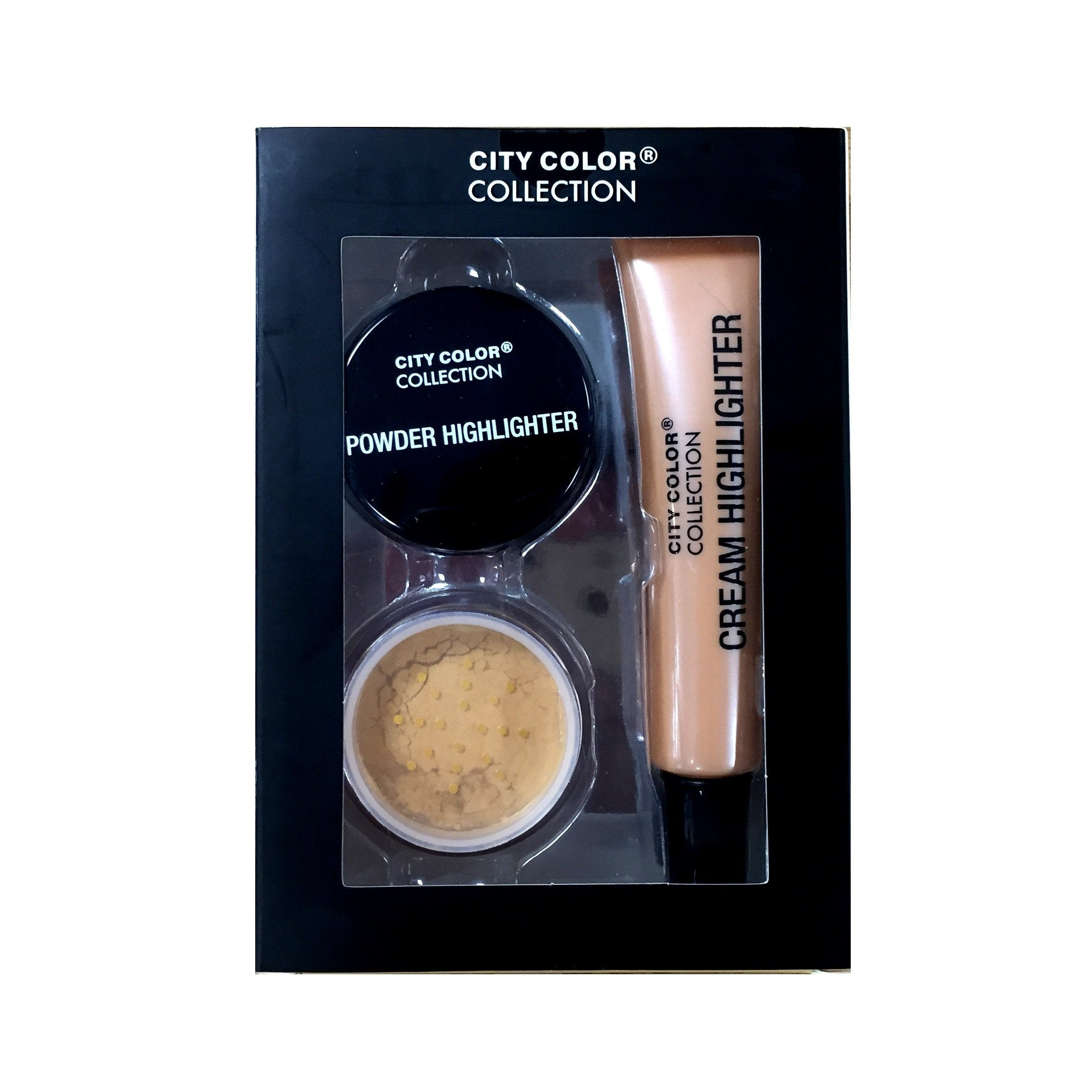 City Color Champagne Cream & Highlighter Set
