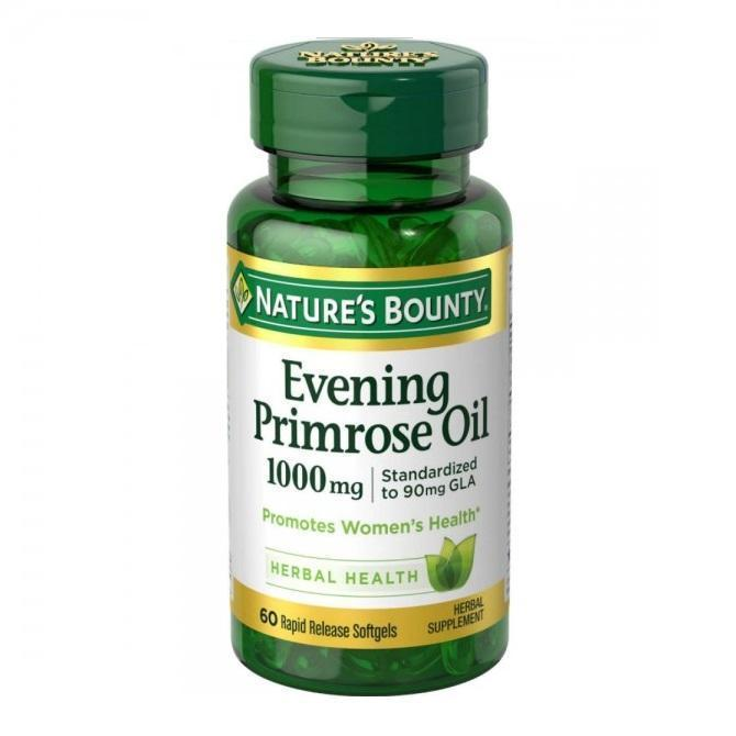 Natures Bounty Evening Primrose Oil 1000mg 60 Softgels