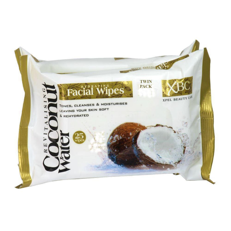 Xpel Coconut Water Wipes Twin Pack