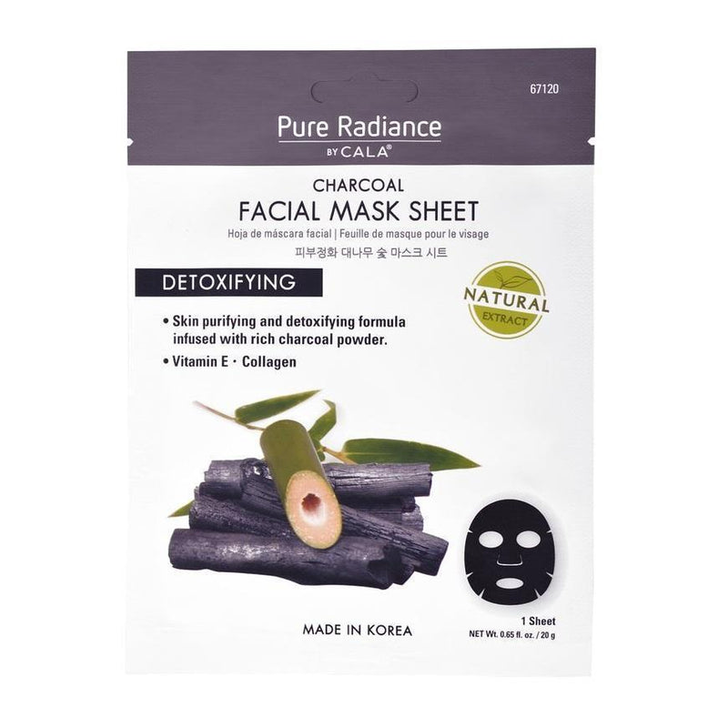 Cala Pure Radiance Charcoal Face Mask Sheet