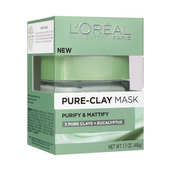 L'Oreal Pure-Clay Mask | 3 Pure Clays + Eucalyptus