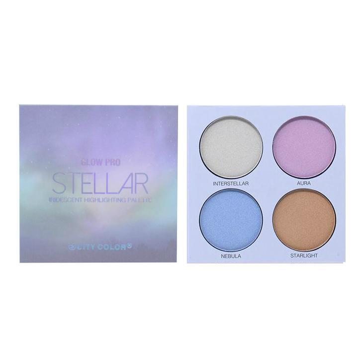 City Color Glow Pro Iridescent Highlighting Palette | Stellar