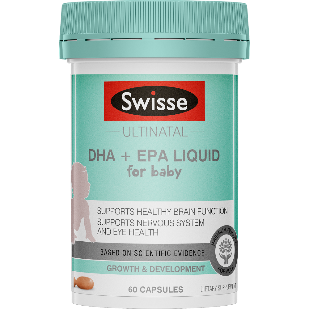 Swisse Ultinatal DHA + EPA Liquid for Baby - 60 Capsules