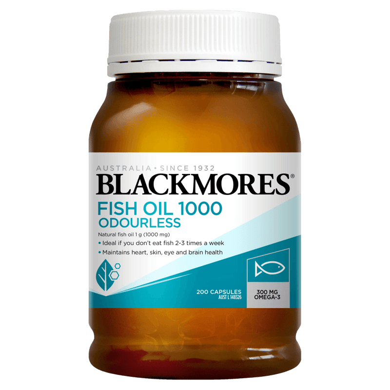 BLACKMORES Fish Oil 1000mg Odourless - 200 Capsules