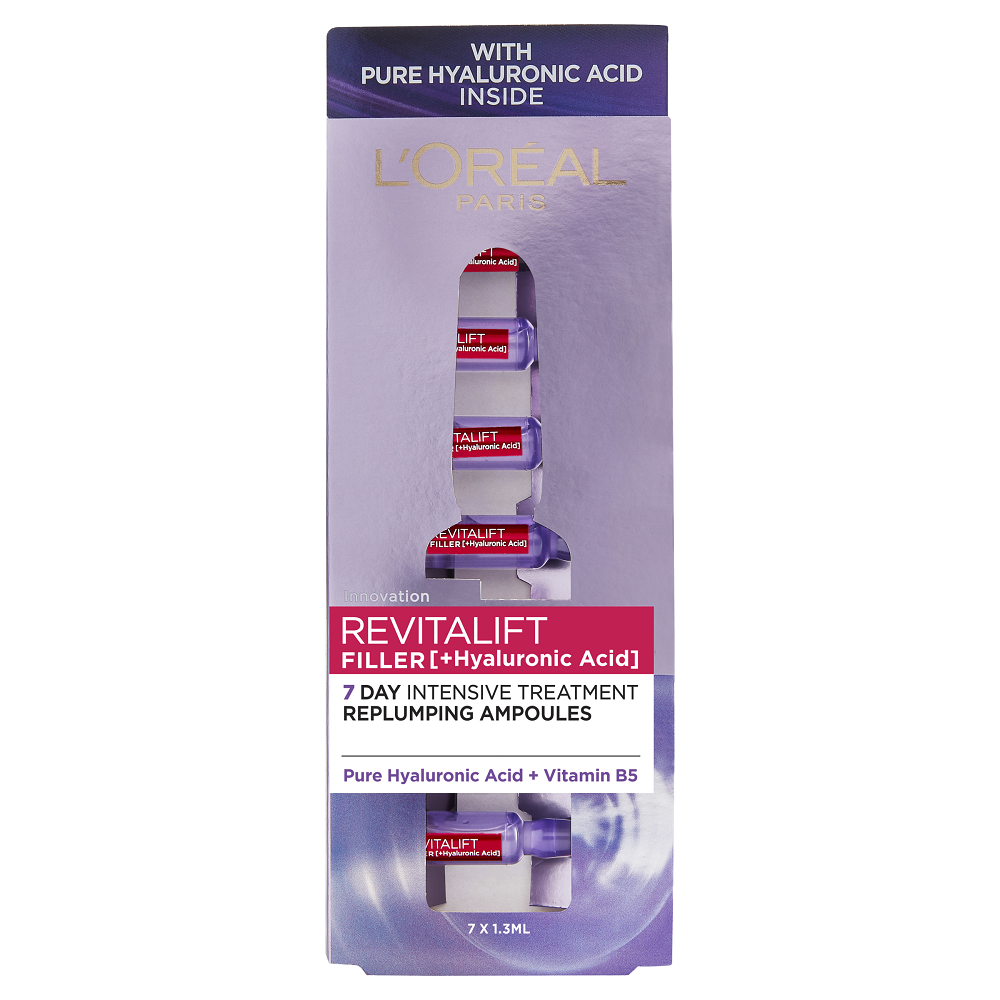 L'Oréal Paris Revitalift Filler + Hyaluronic Acid Replumping Ampoules