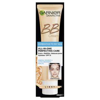 GARNIER SkinActive BB Cream Combination to Oily Skin -Light