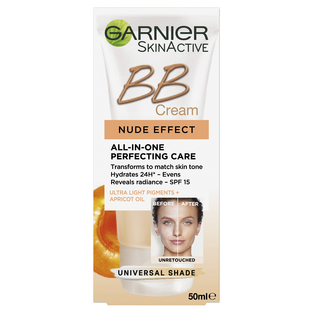 GARNIER SkinActive BB Cream Nude Effect Universal Shade 50mL
