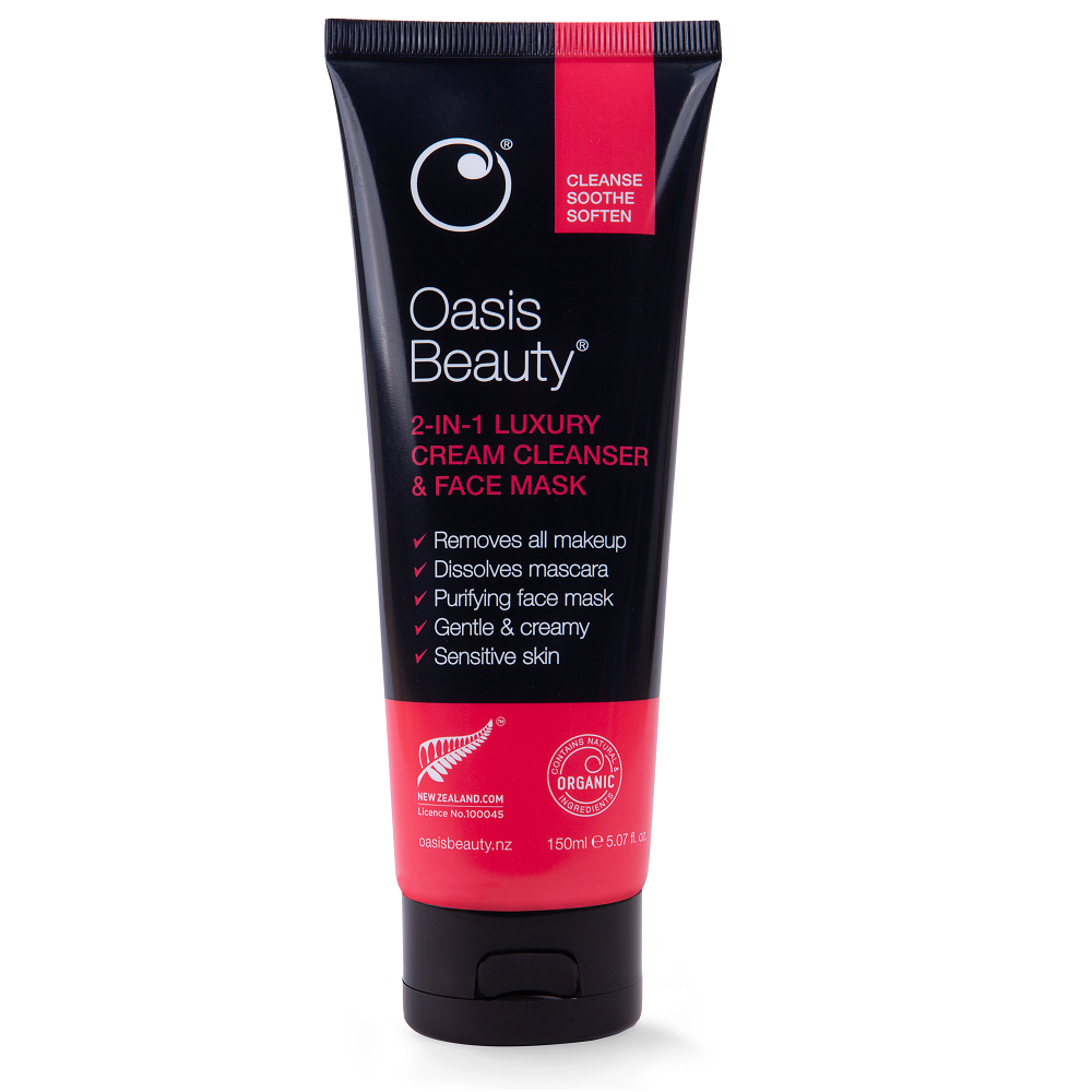 Oasis Beauty 2-in-1 Luxury Cream Cleanser & Face Mask - 150mL