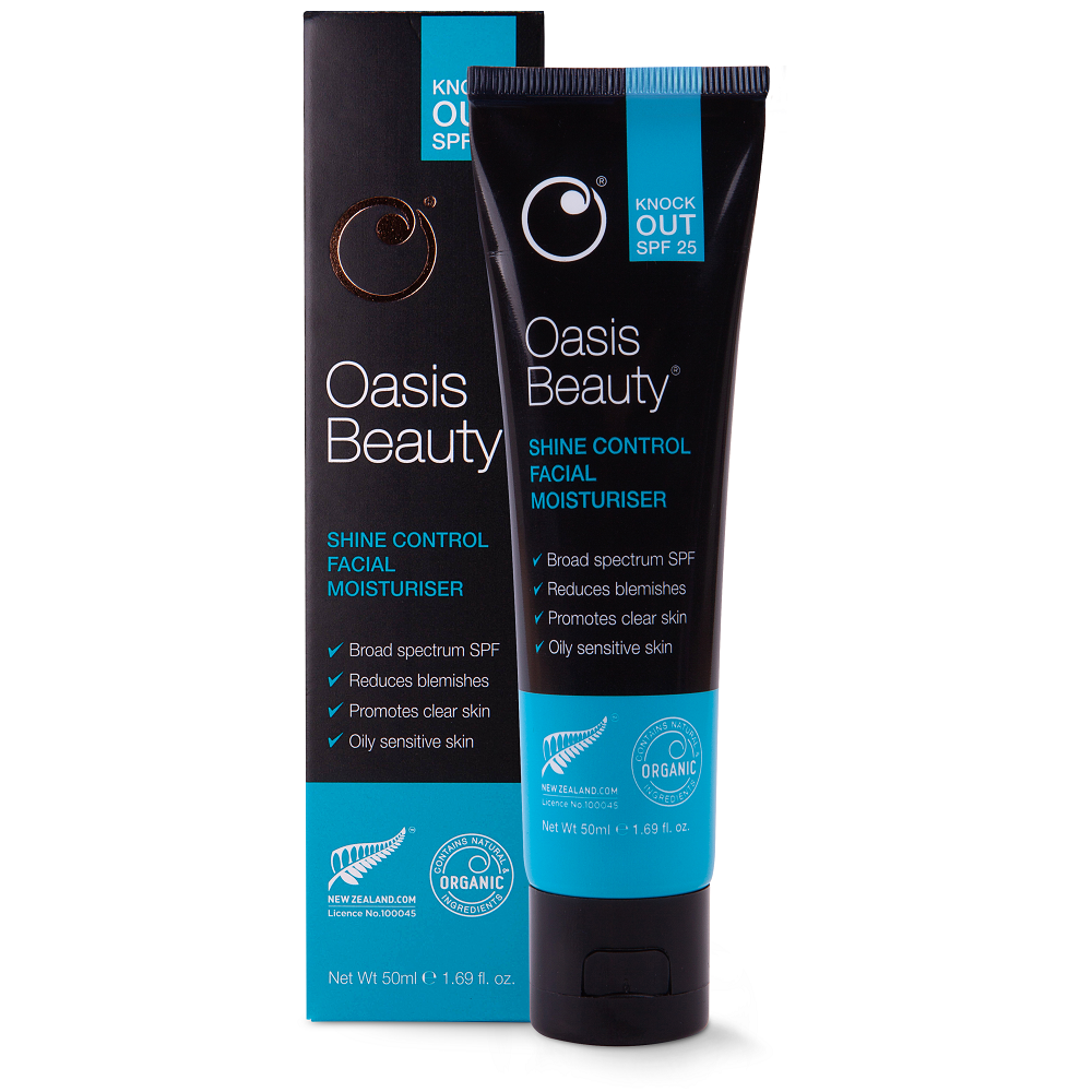 Oasis Beauty Knock Out SPF 25 Shine Control Facial Moisturiser - 50mL