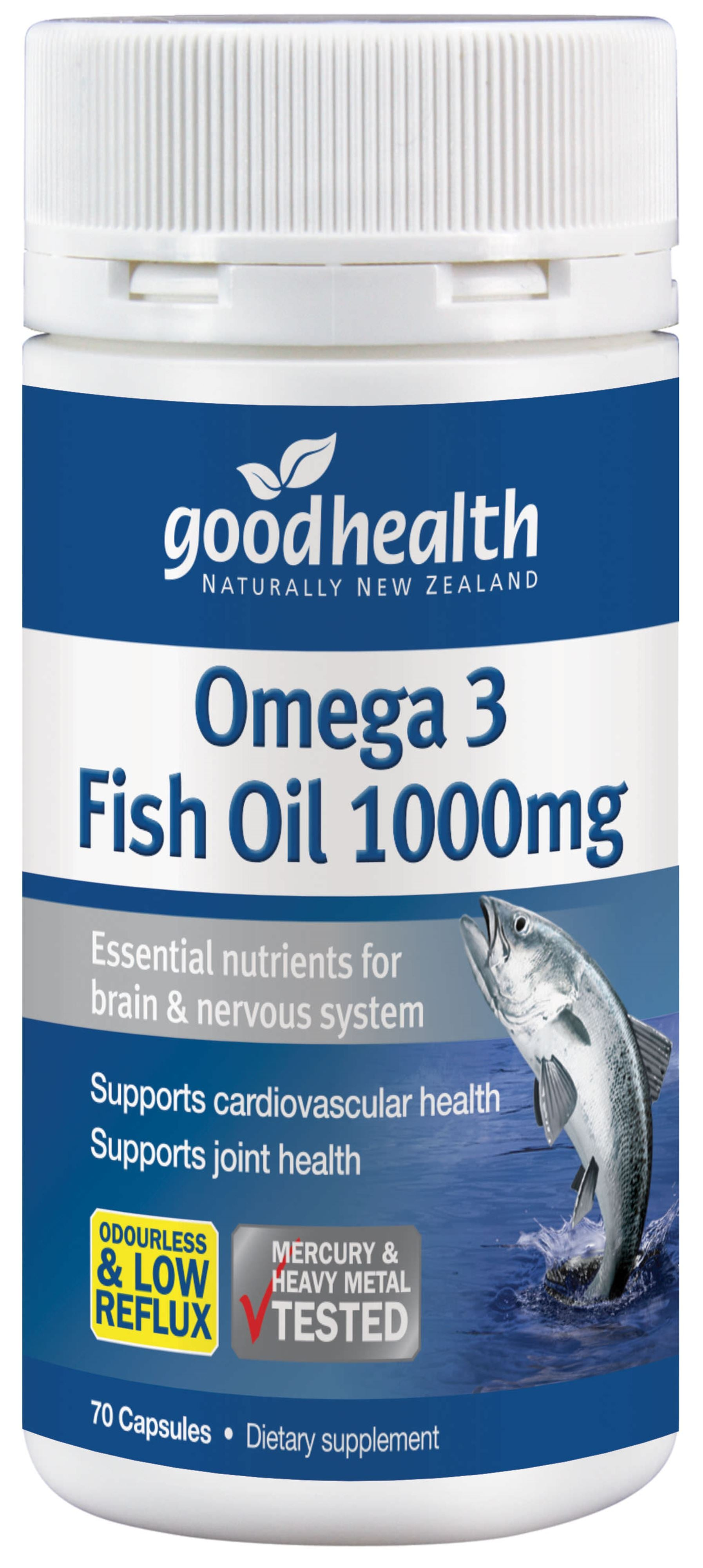 Omega 3 Fish Oil 1000mg - 70 Capsules