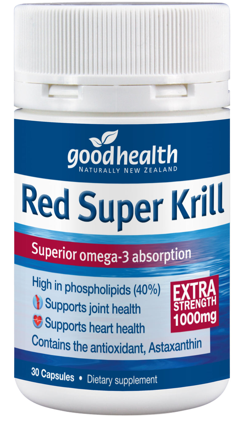 Red Super Krill Extra Strength 1000mg - 30 Capsules