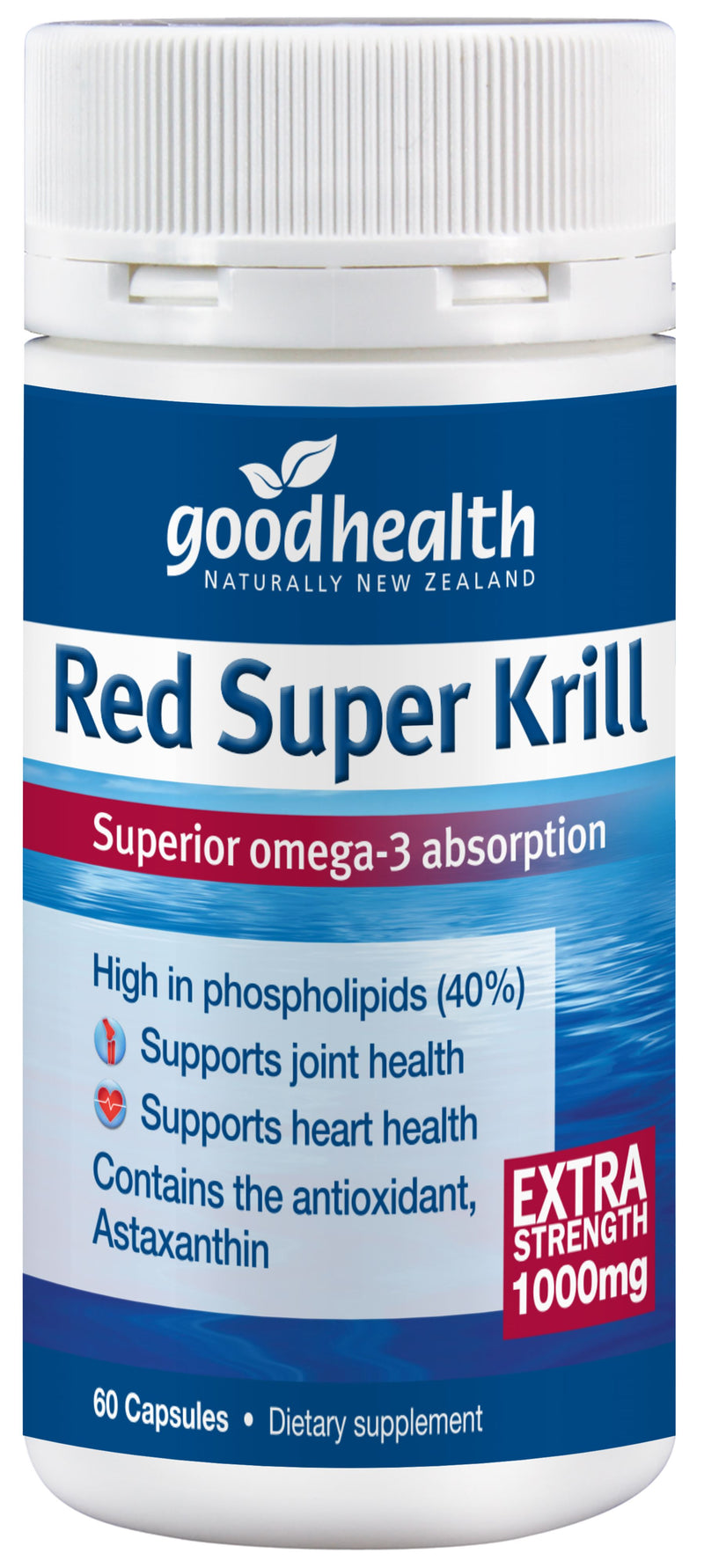 Red Super Krill Extra Strength 1000mg - 60 Capsules