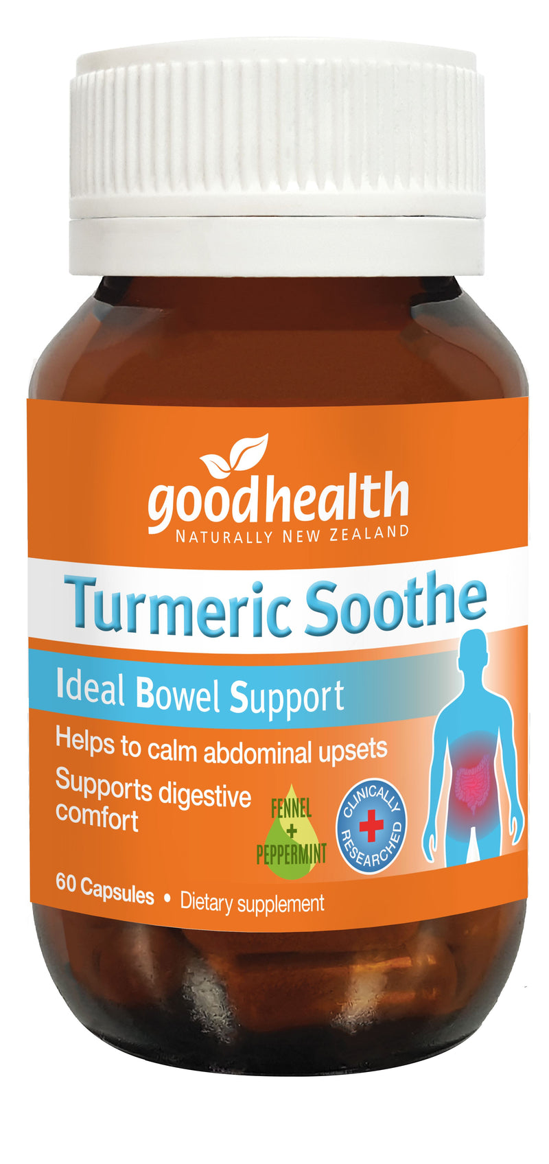 Tumeric Soothe Ideal Bowel Support - 60 Capsules