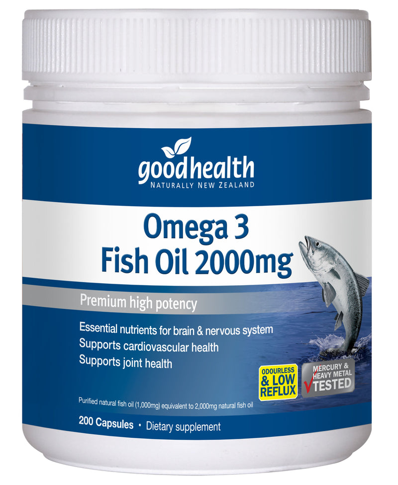 Omega 3 Fish Oil 2000mg - 200 Capsules