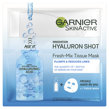 GARNIER SkinActive Fresh Mix Tissue Face Mask Hyaluron Shot