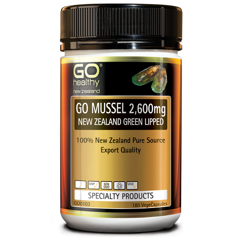 GO Healthy GO Mussel 2,600mg - 180 Vege Capsules