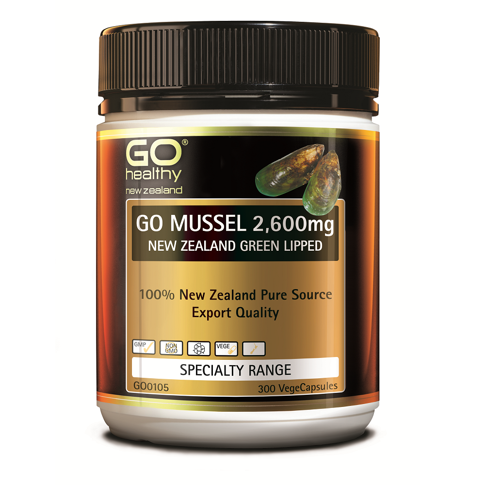 GO Healthy GO Mussel 2,600mg - 300 Vege Capsules