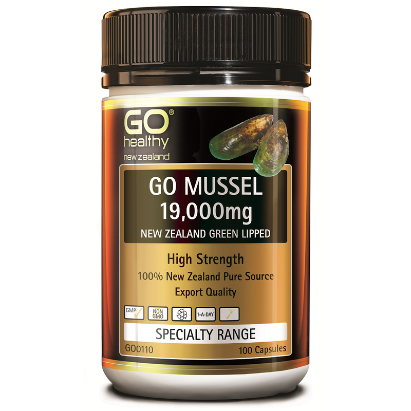 GO Healthy GO Mussel 19,000mg - 100 Capsules
