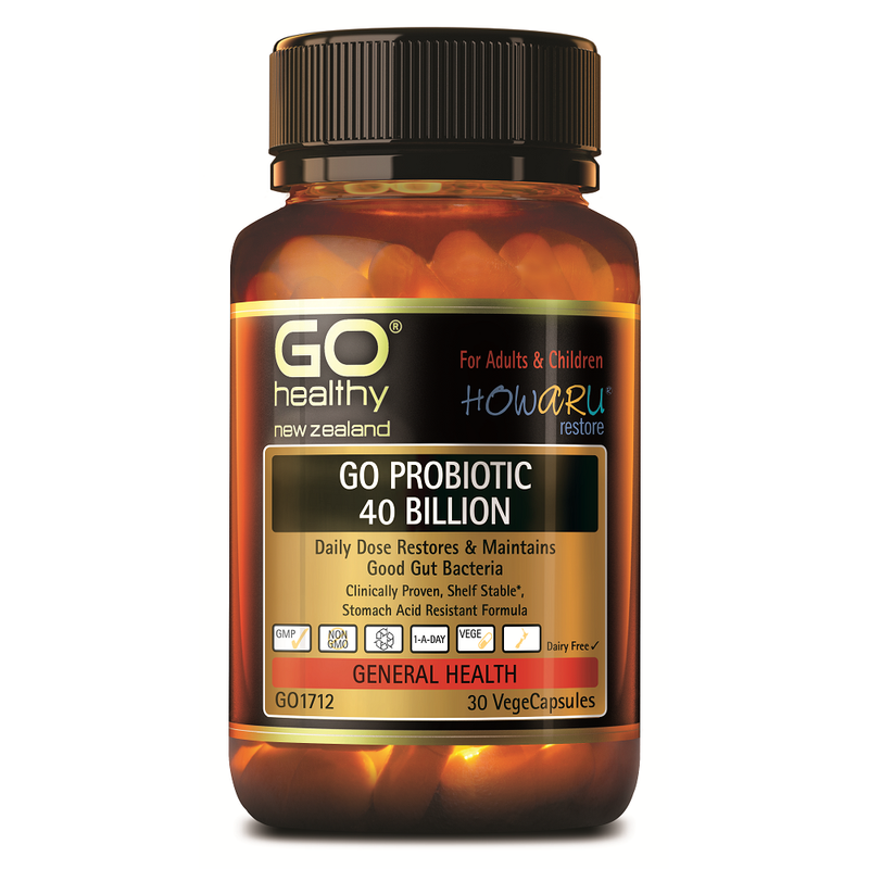GO Healthy GO Probiotic 40 Billion - 30 Vege Capsules
