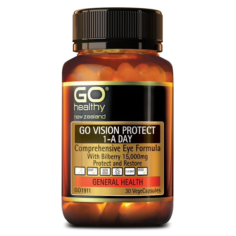 GO Healthy GO Vision Protect 1-a-Day - 30 Vege Capsules