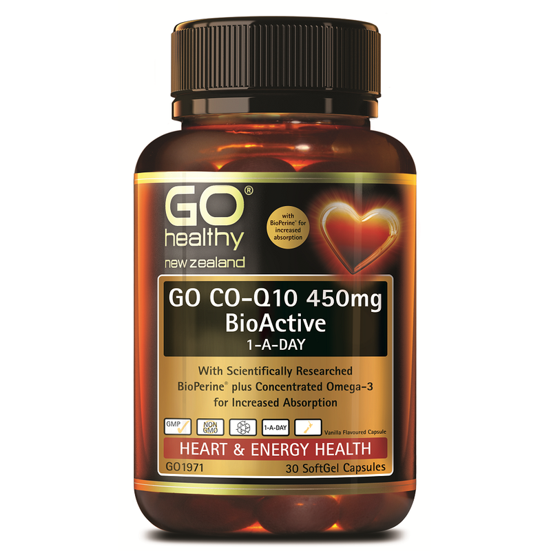 GO Healthy GO Co-Q10 450mg Bioactive 1-a-Day - 30 Softgel Capsules