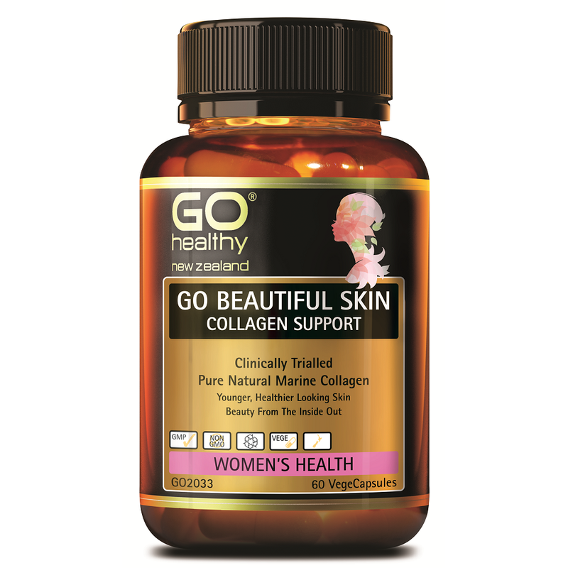 GO Healthy GO Beautiful Skin Collagen Support - 60 Vege Capsules