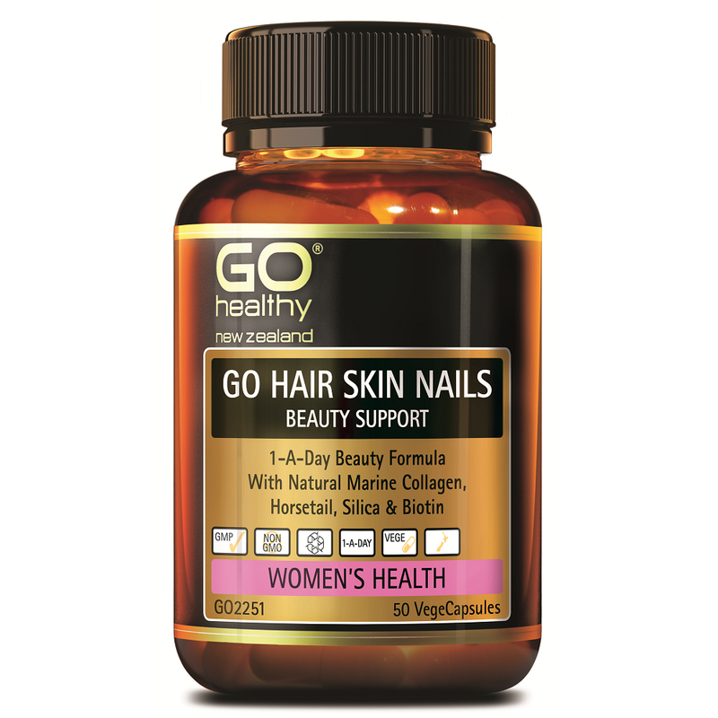 GO Healthy GO Hair Skin Nails Beuty Support - 50 Vege Capsules