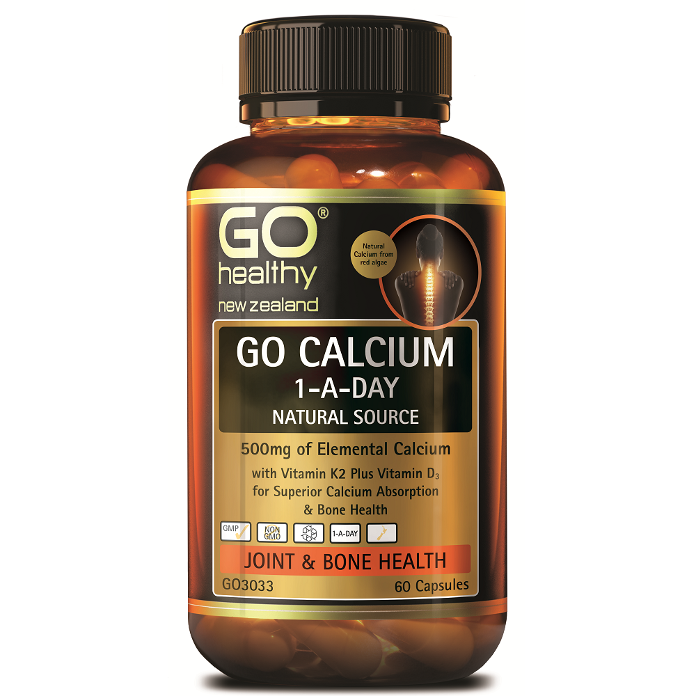 GO Healthy GO Calcium 1-a-Day - 60 Capsules