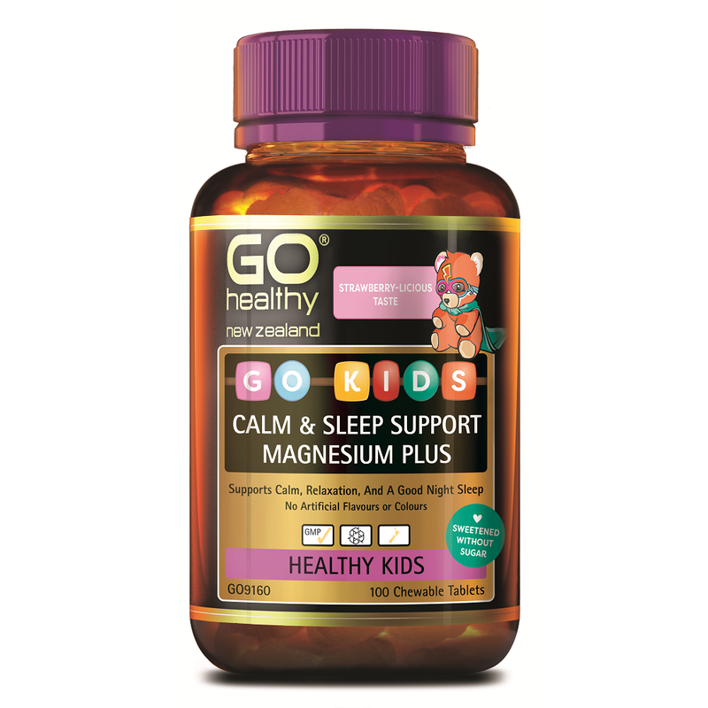 GO Healthy GO Kids Calm & Sleep Support Magnesium Plus - 100 Chewable Tablets