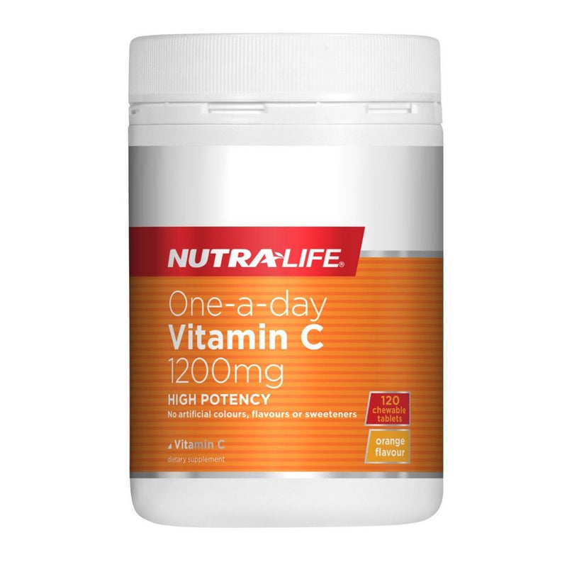 Nutra Life One-a-Day Vitamin C 1200mg High Potency - 120 Chewable Tablets