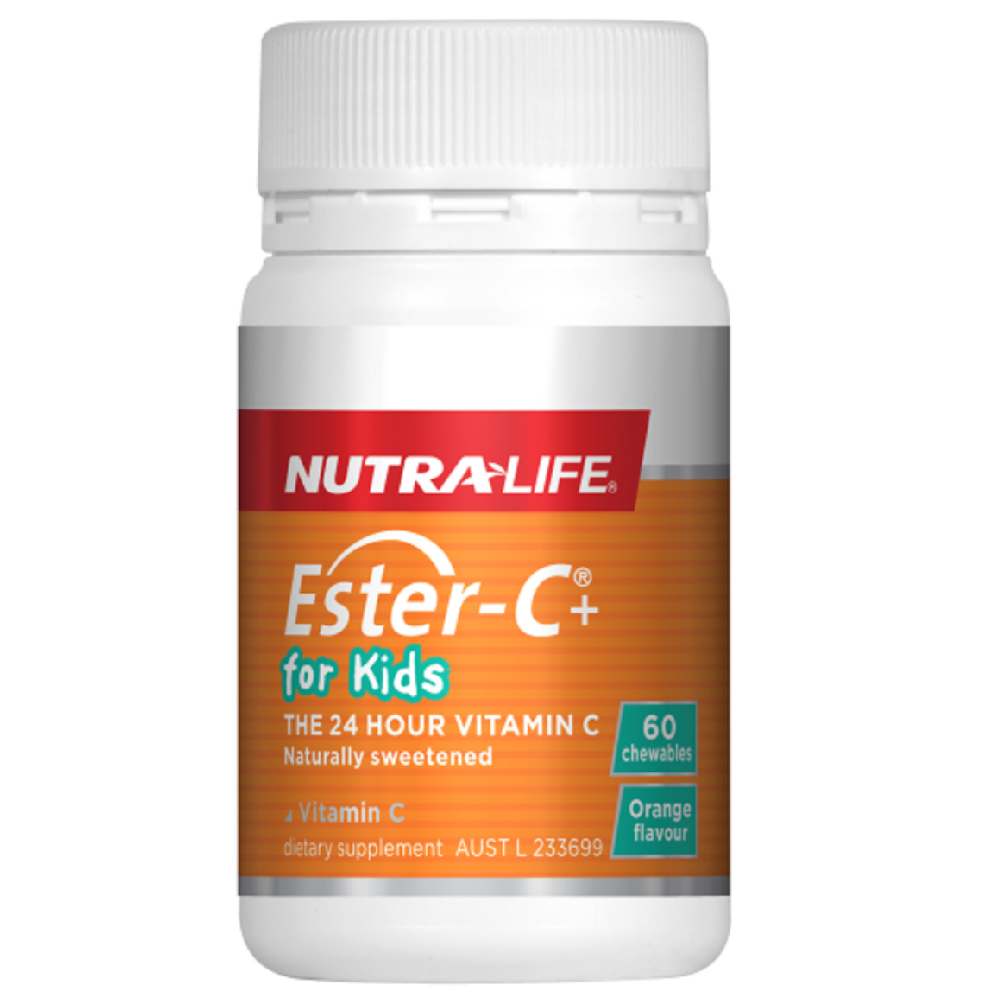 Nutra Life Ester-C+ for Kids - 60 Chewable Tablets