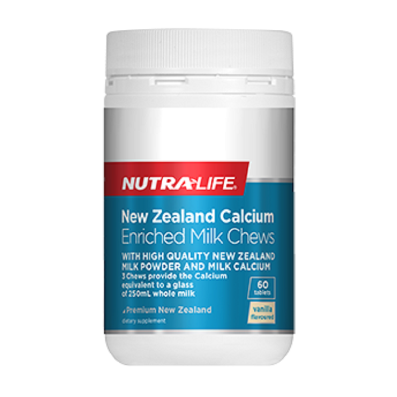 Nutra Life NZ Calcium Enriched Milk Chews - 60 Tablets