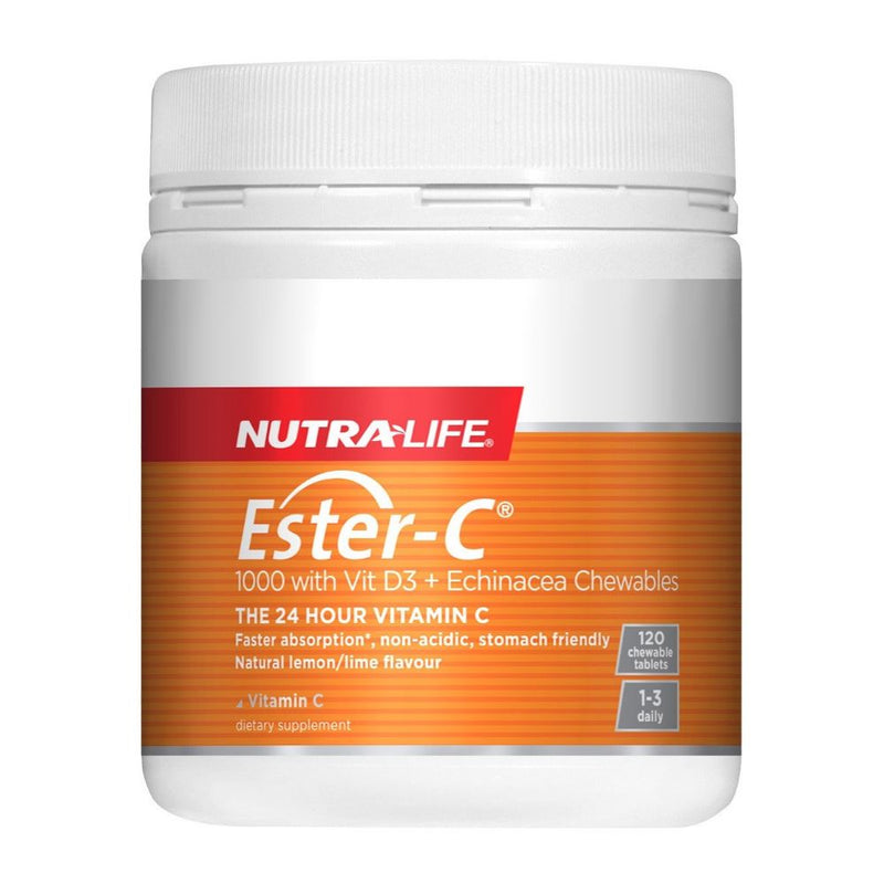 Nutra Life Ester-C 1000 with Vit D3 + Echinacea - 120 Chewable Tablets