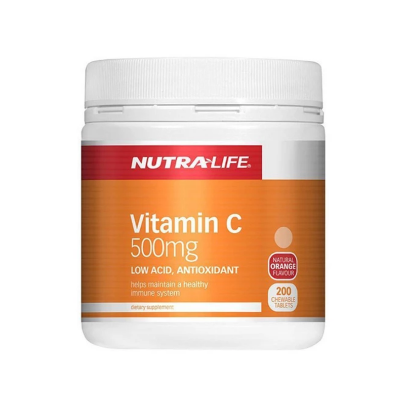 Nutra Life Vitamin C 500mg - 200 Chewable Tablets