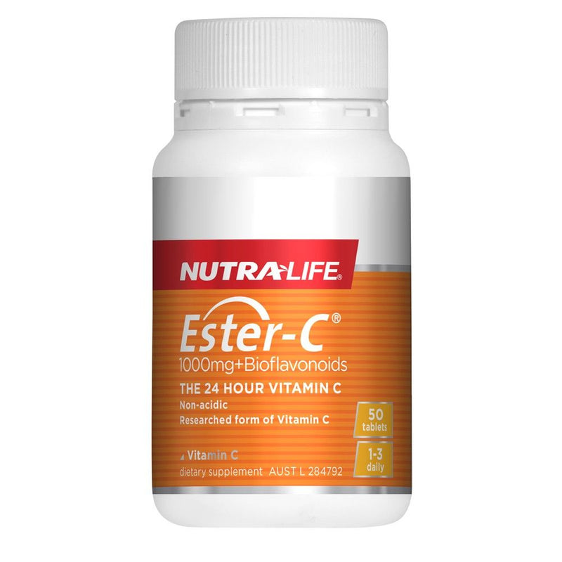 Nutra Life Ester-C 1000mg + Bioflavonoids - 50 Tablets