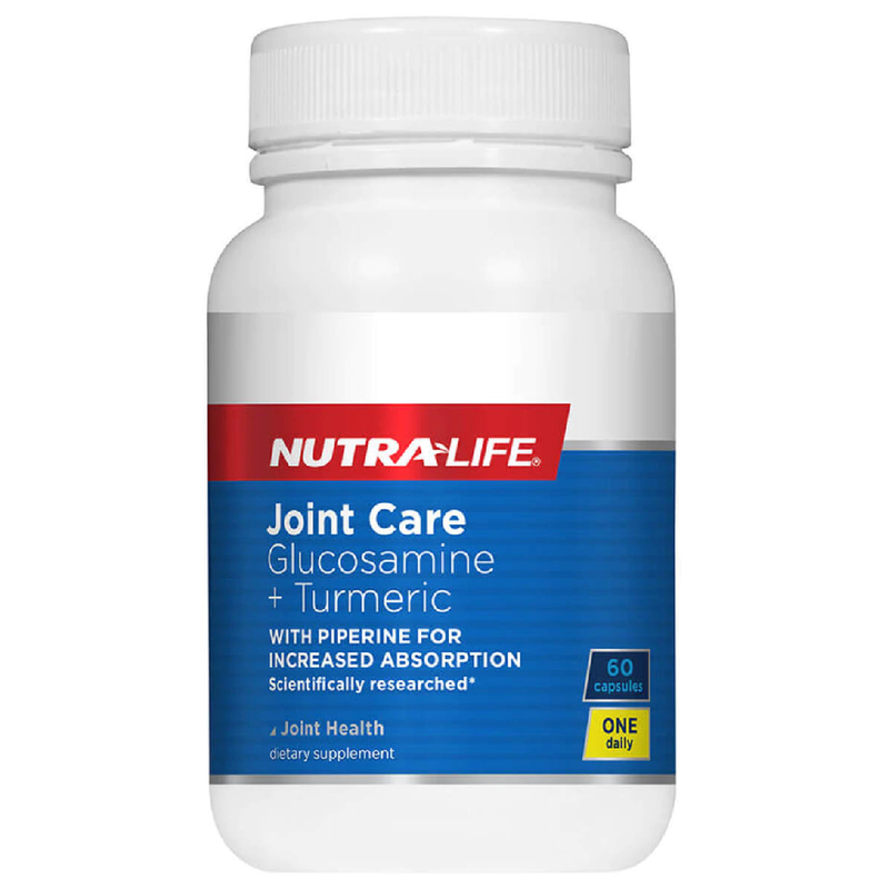 Nutra Life Joint Care Glucosamine + Turmeric - 60 Capsules