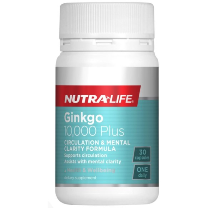 Nutra Life Ginkgo 10,000 Plus - 30 Capsules