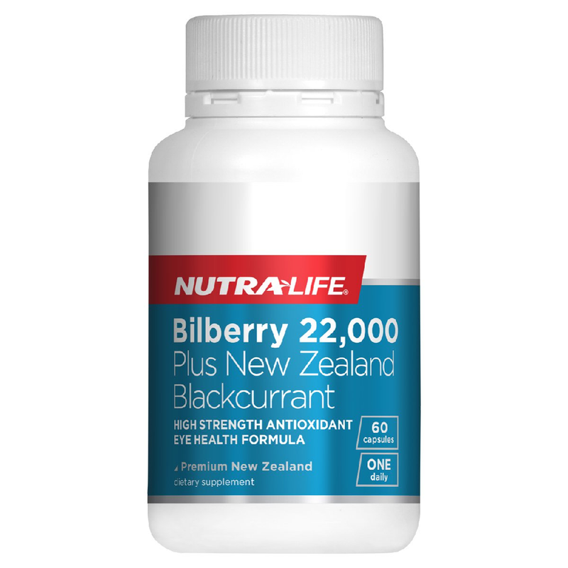 Nutra Life Bilberry 22,000 Plus - 60 Capsules