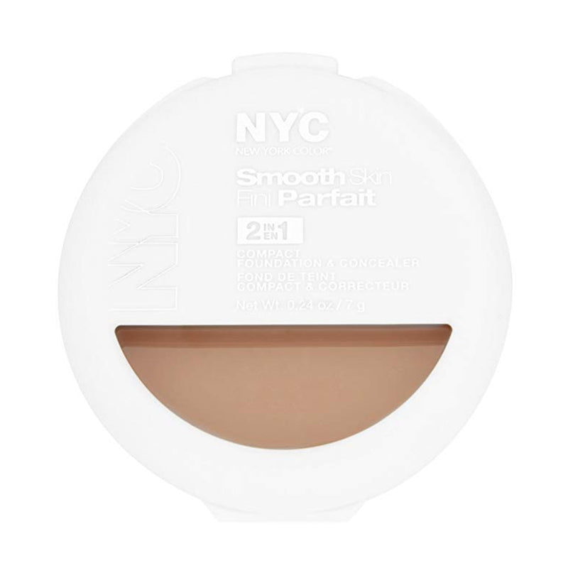 NYC Smooth Skin 2-in-1 Compact Foundation and Concealer - # 003  Medium
