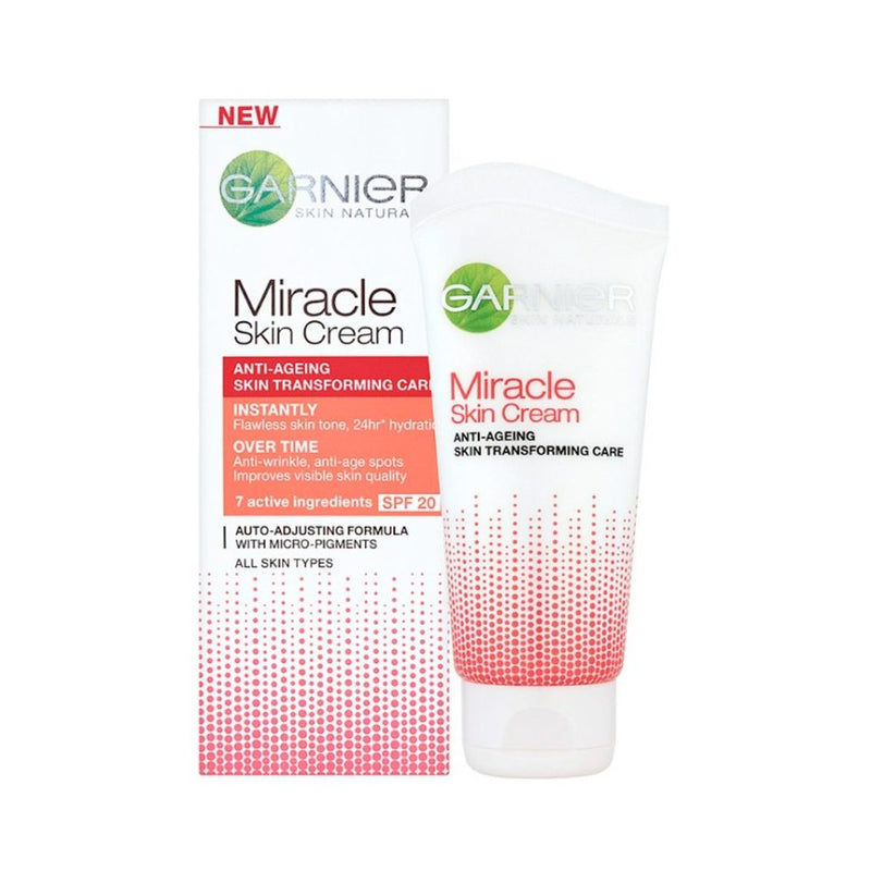 Garnier Skin Naturals Miracle Skin Cream Anti-Ageing 50mL