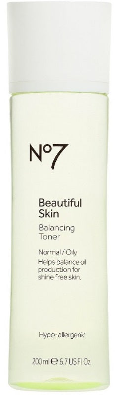 No7 Beautiful Skin Balancing Toner Normal/Oily 200mL