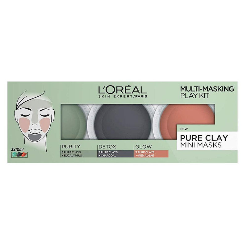 L'Oreal Pure Clay Mini Masks | 3 x 10ml
