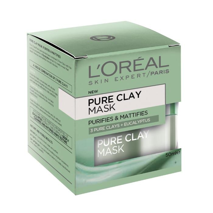 L'Oreal Pure Clay Mask | 3 Pure Clays + Eucalyptus